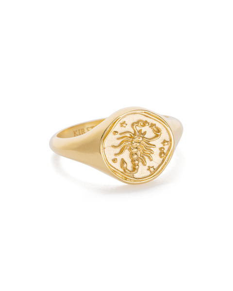 Scorpio Zodiac Ring 18K GOLD VERMEIL or STERLING SILVER