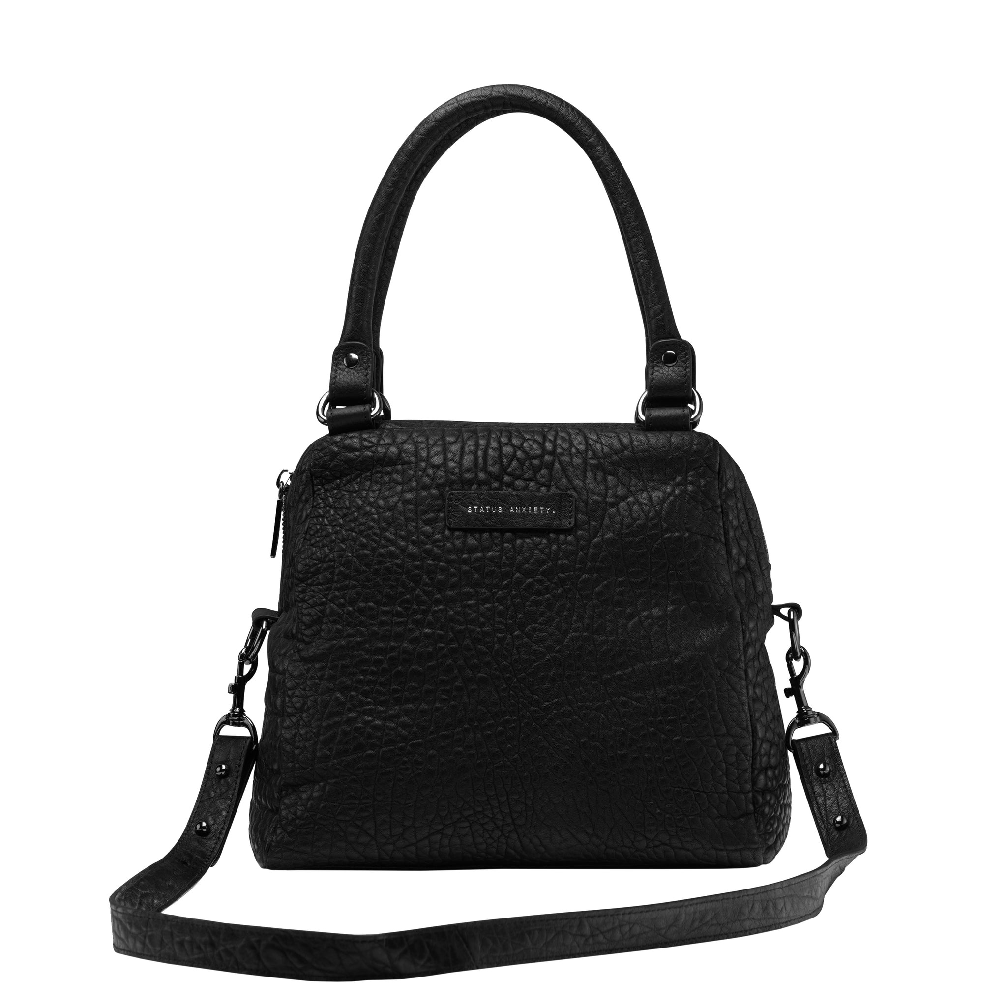 Last Mountains Bag BLACK BUBBLE LEATHER
