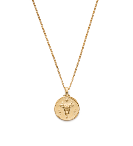 Taurus Zodiac Necklace 18K GOLD VERMEIL
