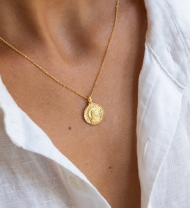 Virgo Zodiac Necklace 18K GOLD VERMEIL