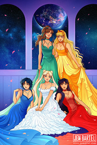 Sailor Moon Princesses Print