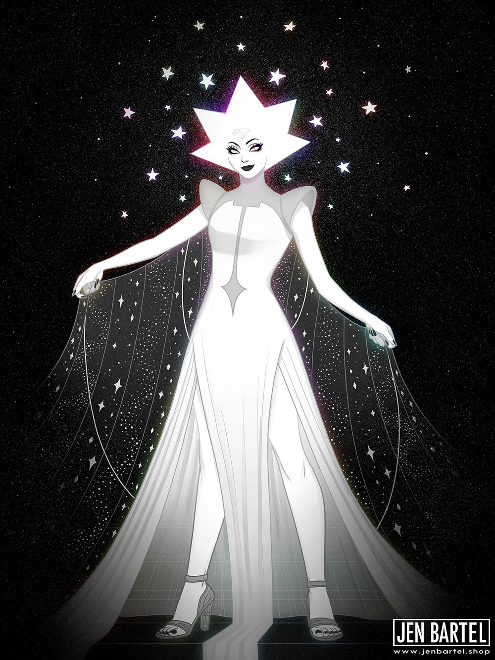 White Diamond Print
