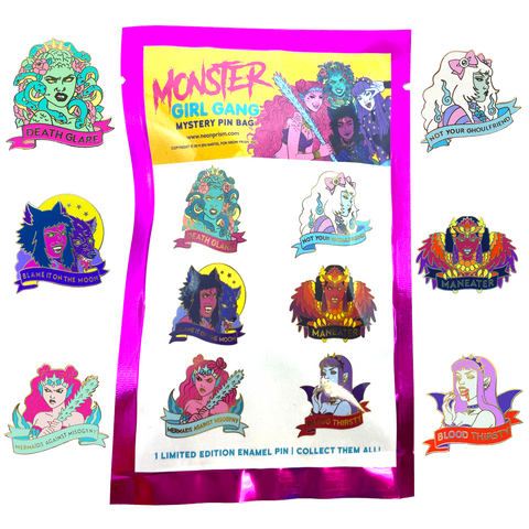 Monster Girl Gang Mystery Pins