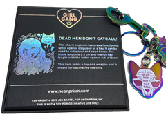 Iridescent Dead Men Don't Catcall Keychain