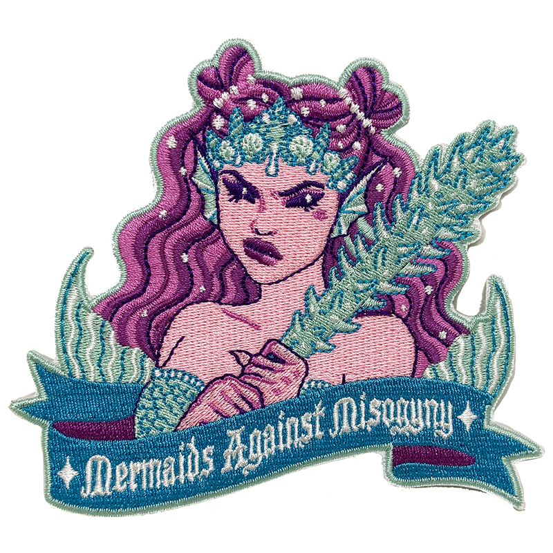 Mermaids Against Misogyny Patch
