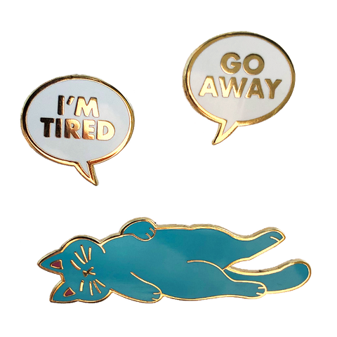 Nap Cat Pin Set