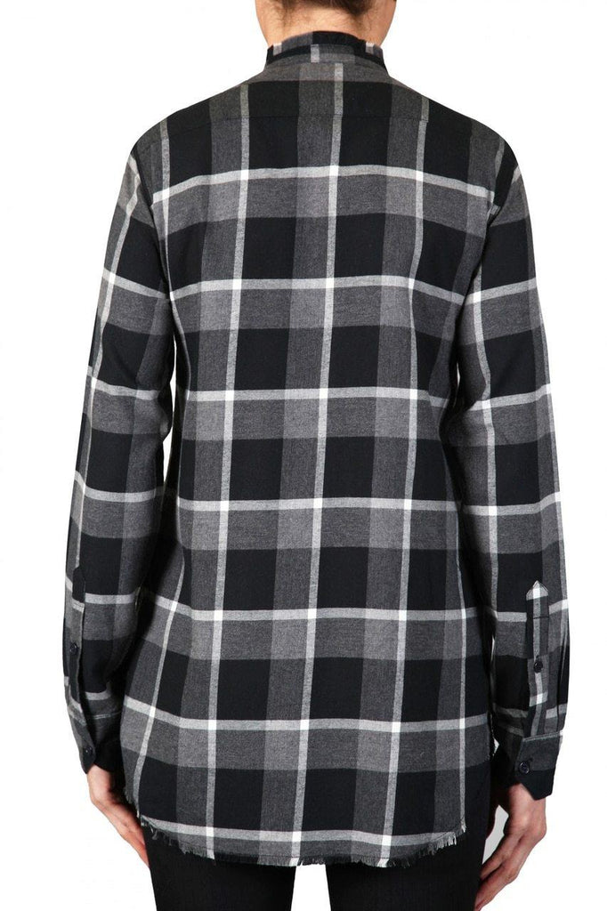 PLAID SHIRT - BLACK AND GREY