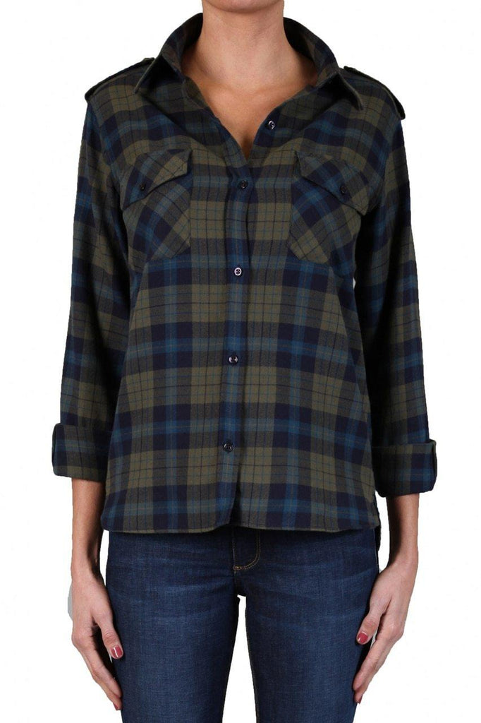 Plaid Shirt - Olive-Top-Black Orchid Denim