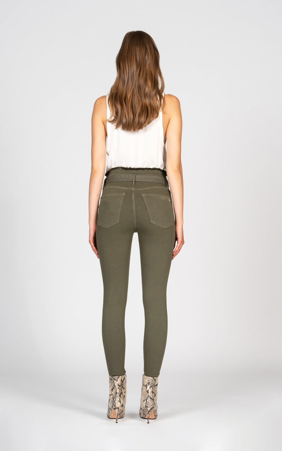 Evan Belted Skinny - Army Green-Jean-Black Orchid Denim
