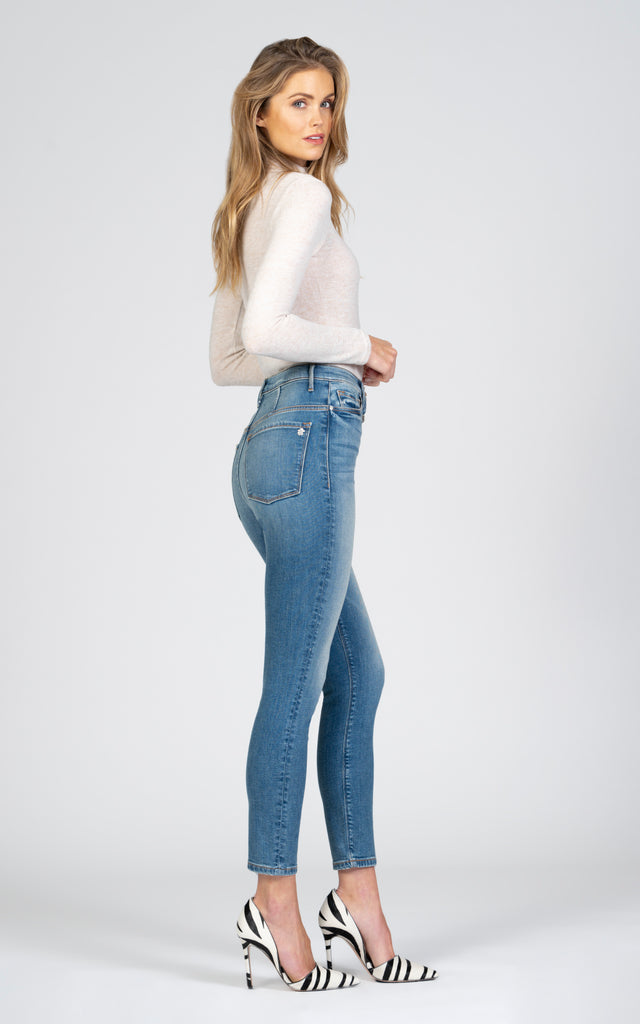 Bridget Double Button Skinny - Music To My Ears-Jean-Black Orchid Denim