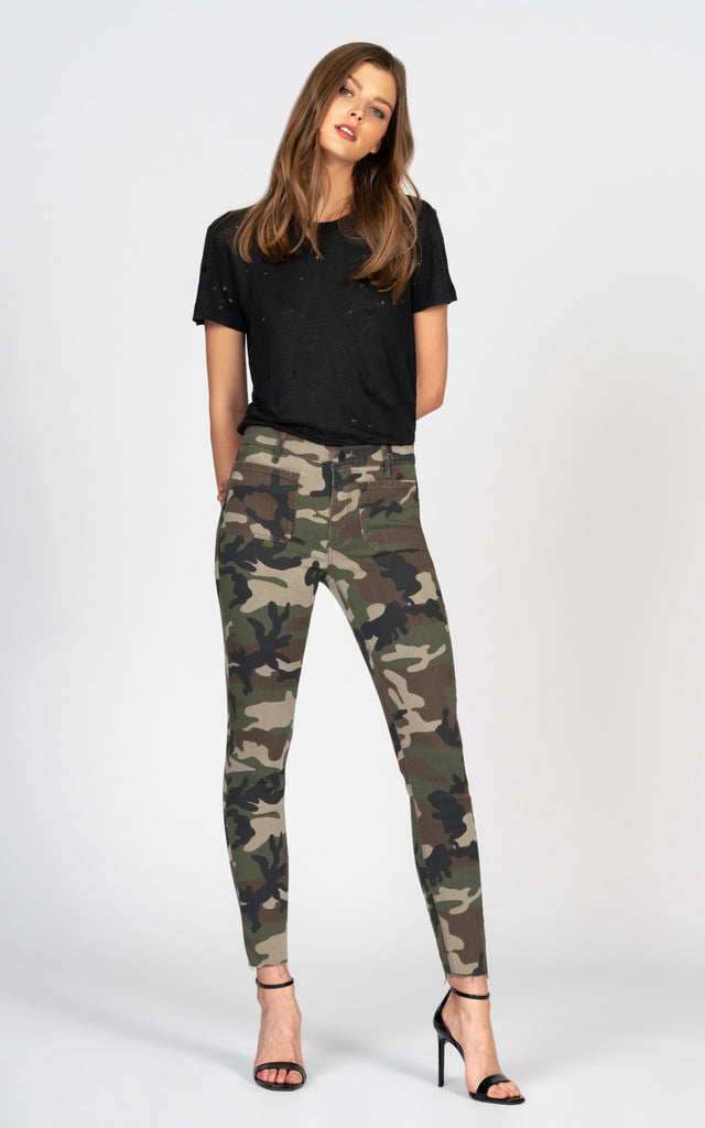 Ava Patch Pocket Skinny - Camo-Jean-Black Orchid Denim