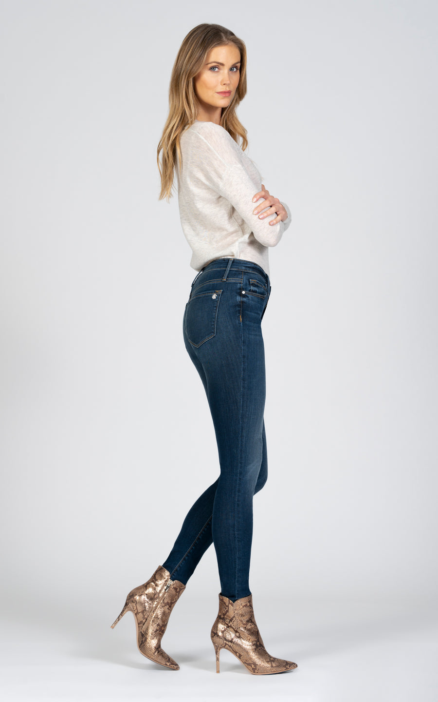 Jude Mid Rise Skinny - Forget Me Not-Jean-Black Orchid Denim