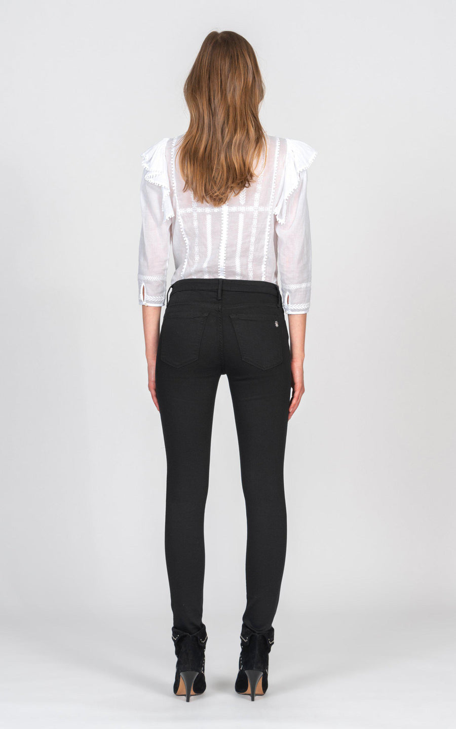 Jude Mid Rise Super Skinny - So Black