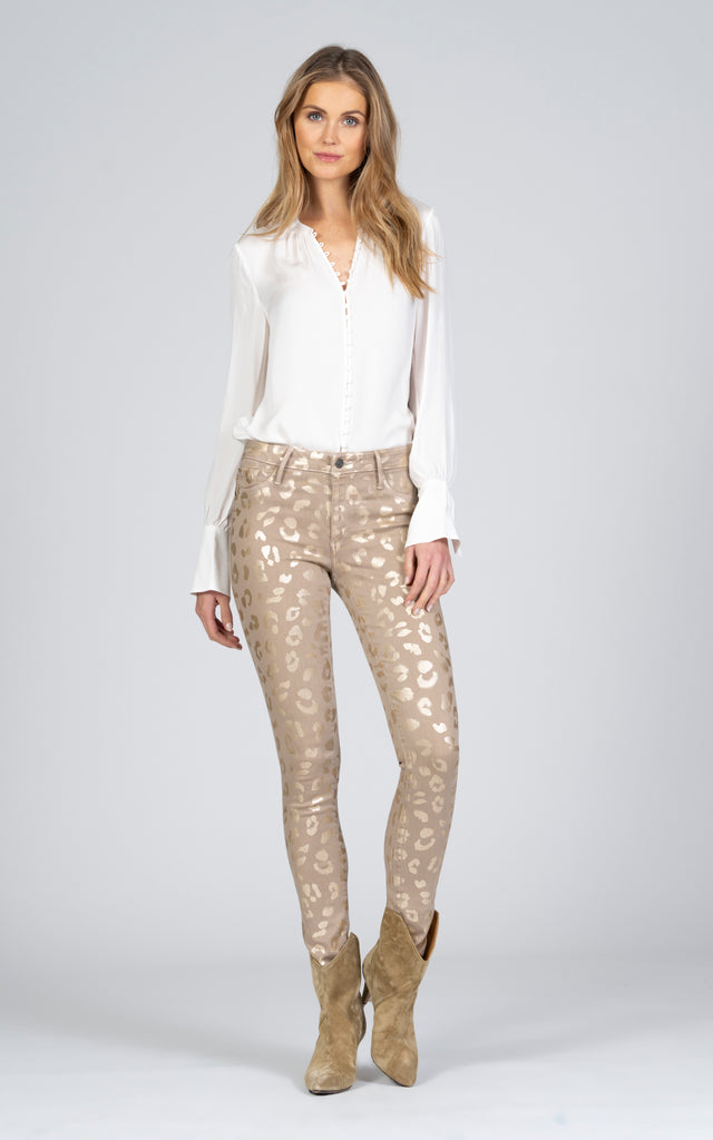 Jude Mid Rise Skinny w/ All Over Leopard - Nomad-Jean-Black Orchid Denim