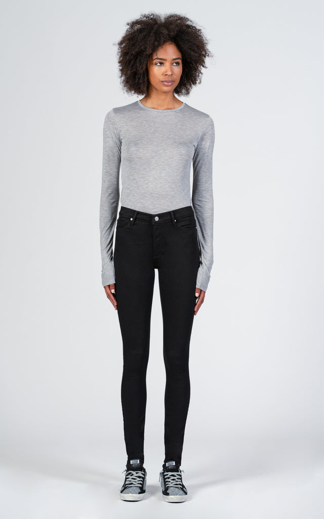 Gisele High Rise Super Skinny - So Black-Jean-Black Orchid Denim