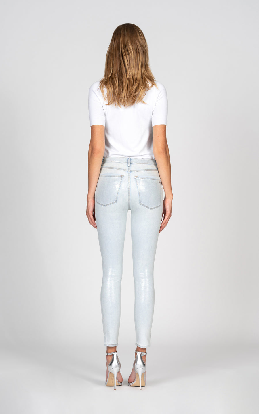 Kate Super High Rise Skinny with holographic foil - Bleachless