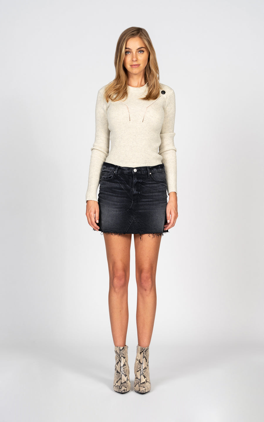 Paige Fray Mini Skirt - Lost and Found