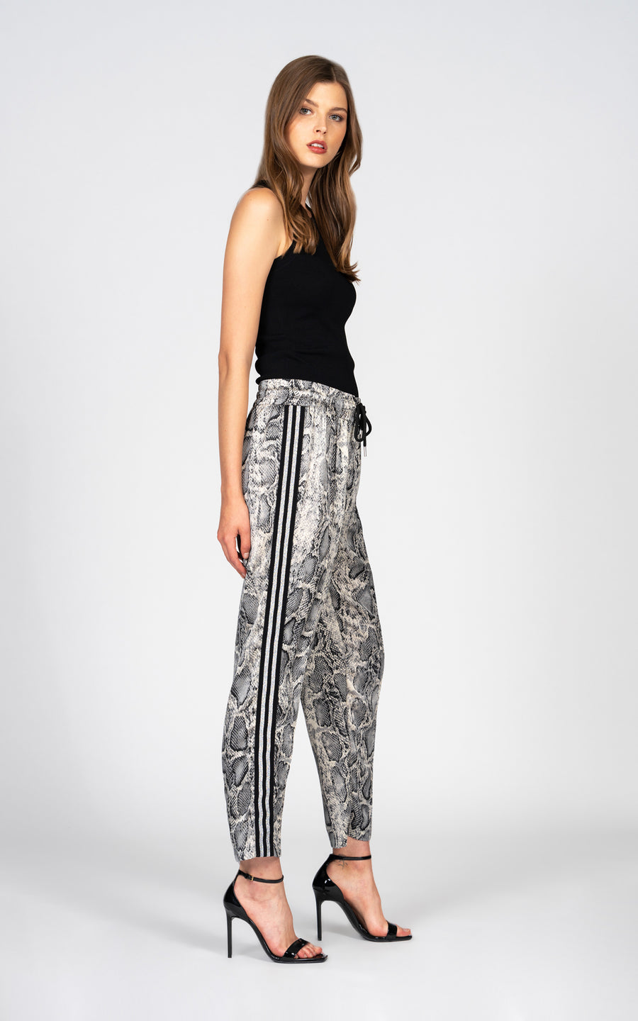 Luxe Satin Pant - Grey Python-Jean-Black Orchid Denim