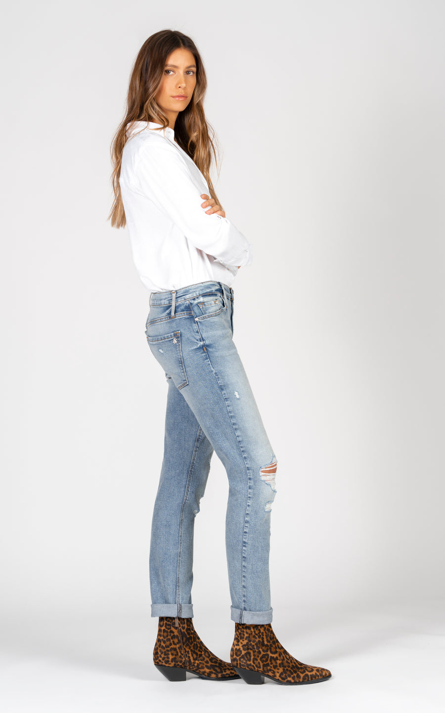 Harper Skinny Boyfriend - Go with the Flow-Jean-Black Orchid Denim