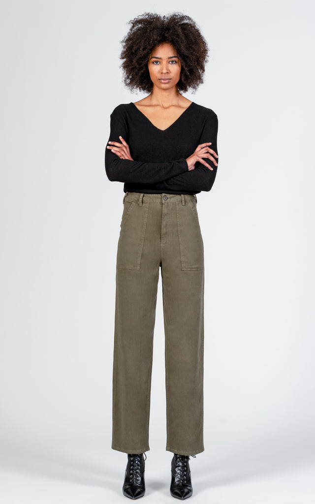 Military Wide Leg - Bootcamp-Jean-Black Orchid Denim
