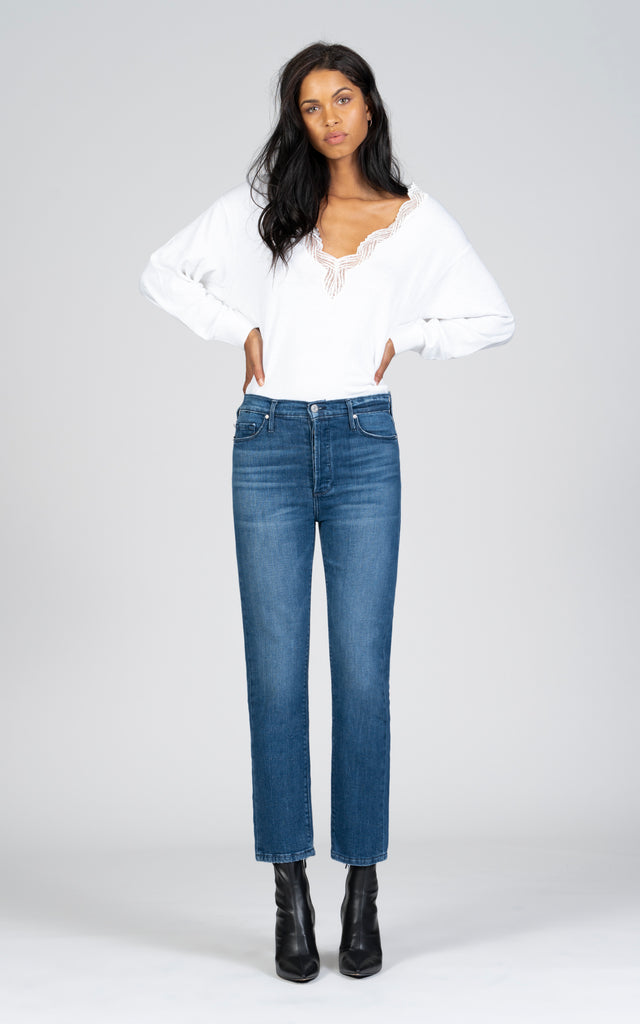 Joan High Waisted Straight - More Than Friends-Jean-Black Orchid Denim