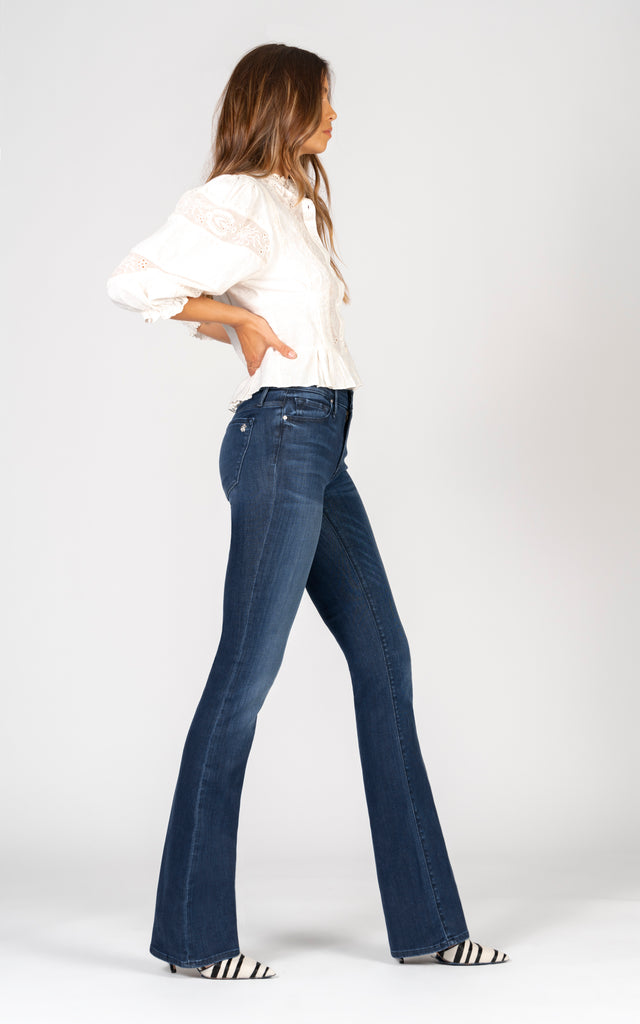 India Slim Boot - Wish You Well-Jean-Black Orchid Denim