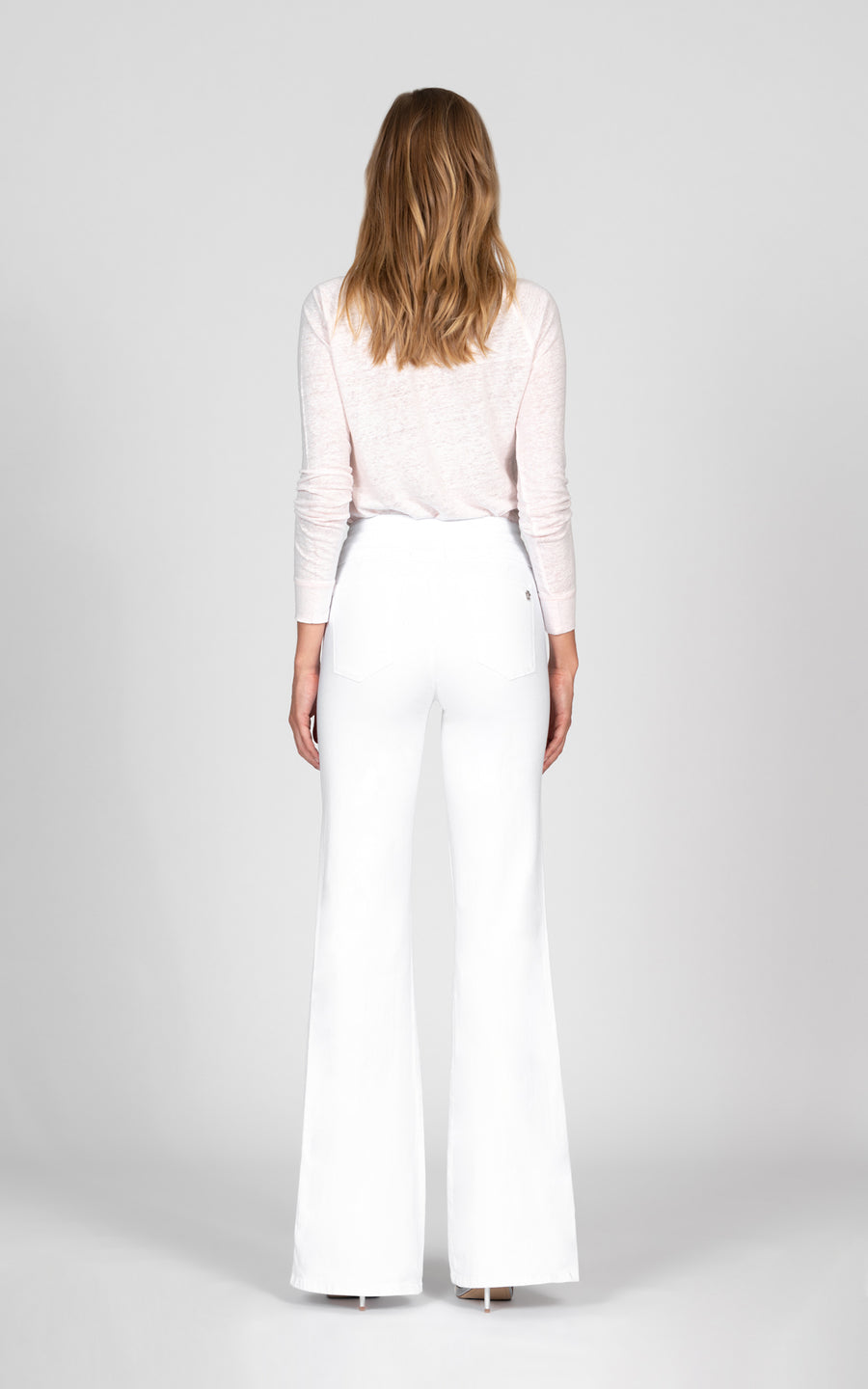 Amelia Wide Leg Trouser - Snow White
