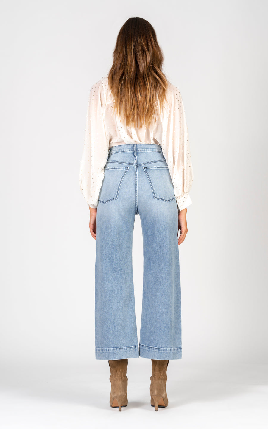 Emma Double Yoke Wide Leg Crop - Back To Basics