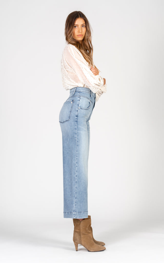 Emma Double Yoke Wide Leg Crop - Back To Basics-Jean-Black Orchid Denim