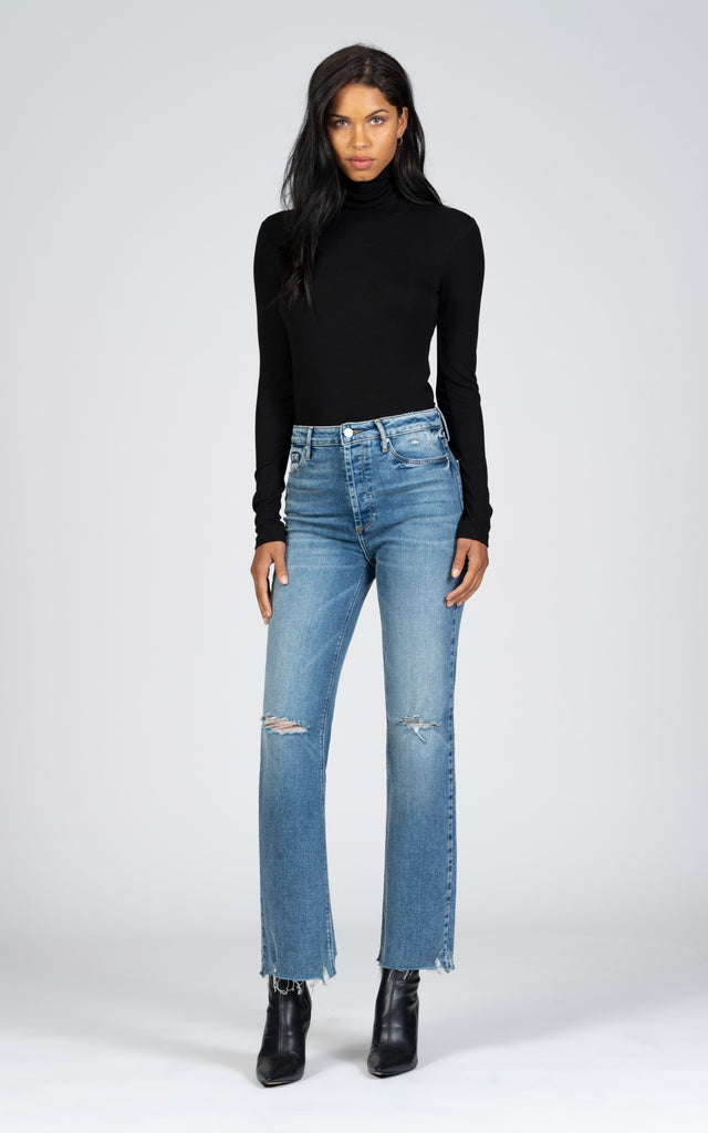 Marisa Relaxed Straight Fray - Peace In Your Heart-Jean-Black Orchid Denim