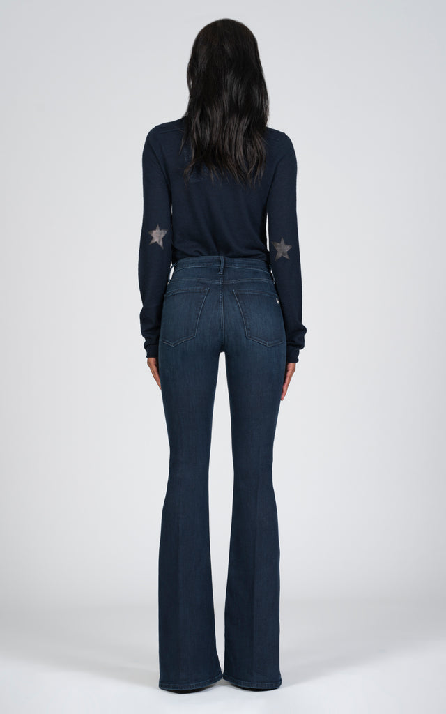 Grace Super Flare - Déjà Vu-Jean-Black Orchid Denim