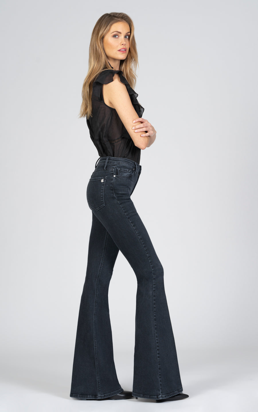 Grace Super Flare - Ride Or Die-Jean-Black Orchid Denim