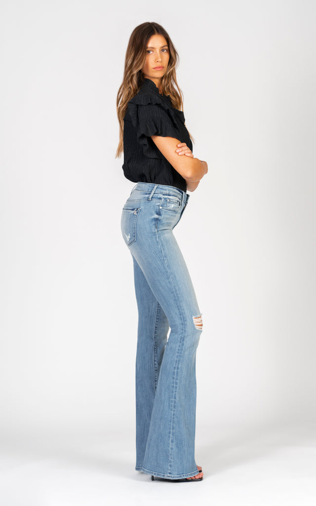 Mia Skinny Flare - Keep Cool-Jean-Black Orchid Denim