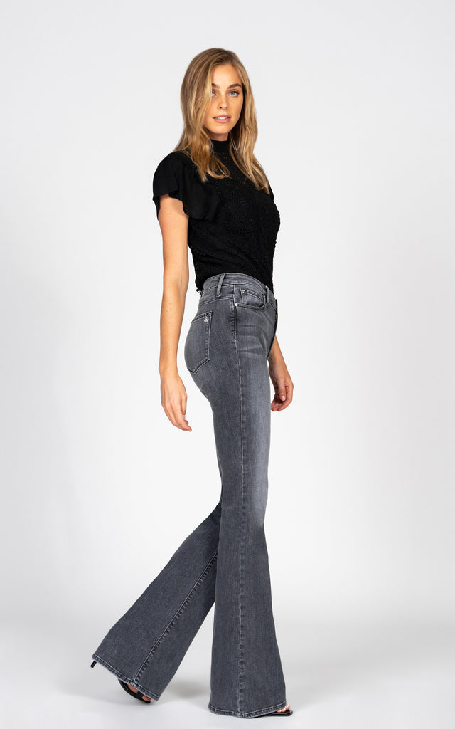 Mia Skinny Flare - Sound of Goodbye-Jean-Black Orchid Denim
