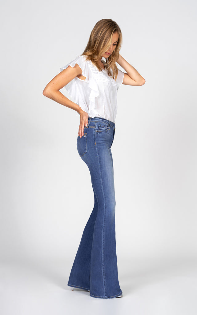 Mia Skinny Flare - Good Years-Jean-Black Orchid Denim