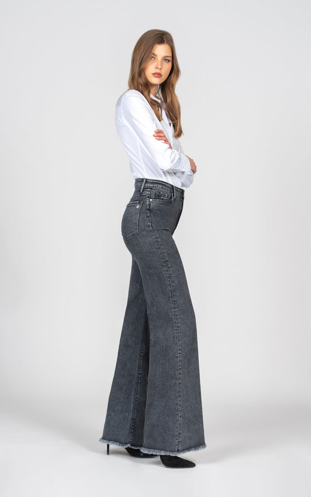 Claudia Wide Leg - Blackstone-Jean-Black Orchid Denim