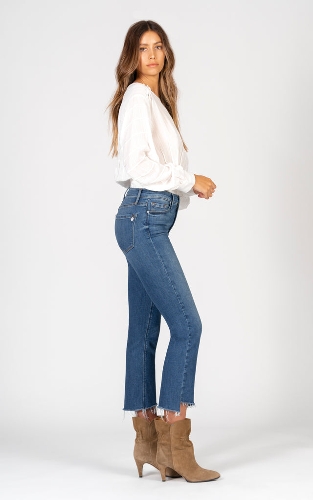 Cindy Slant Fray - Look At Her-Jean-Black Orchid Denim