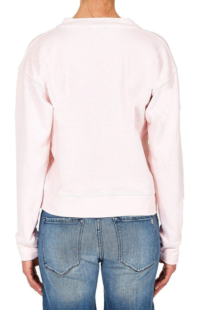 Lace Up Sweatshirt - Pink-Outerwear-Black Orchid Denim