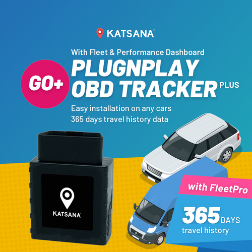 F100-GOPLUS Plug & Play OBD GPS Tracker with KATSANA FleetPro™
