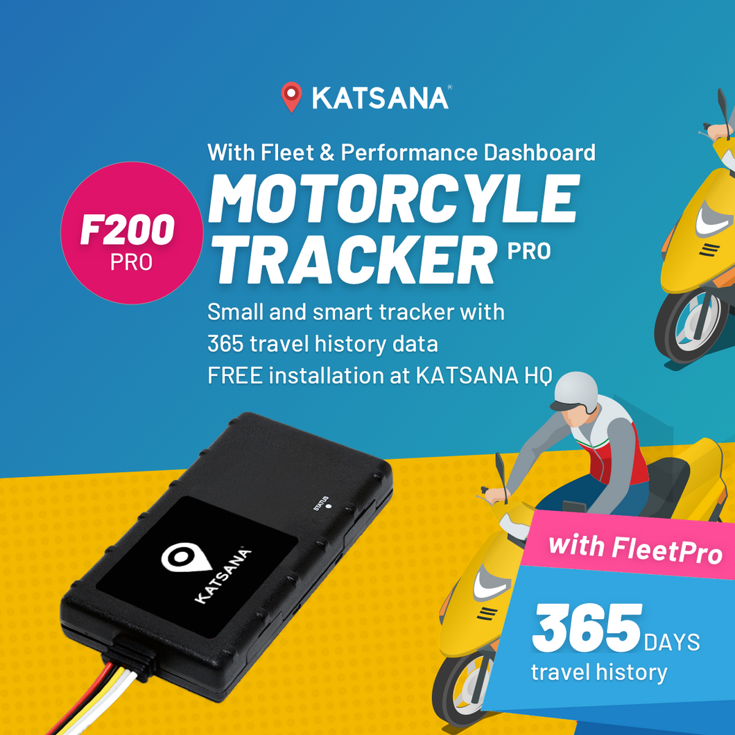 F200-PRO Motorcycle tracker with KATSANA FleetPro™