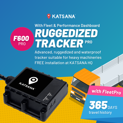 F600-PRO Ruggedized GPS Tracker - Waterproof IP67 with KATSANA FleetPro™