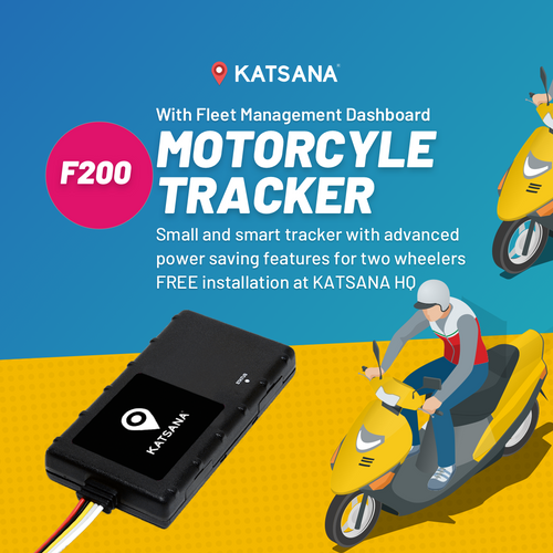 F200 Motorcycle tracker with KATSANA Fleet™
