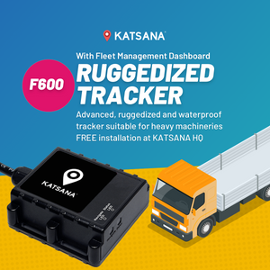 F600 Ruggedized GPS Tracker - Waterproof IP67 with KATSANA Fleet™