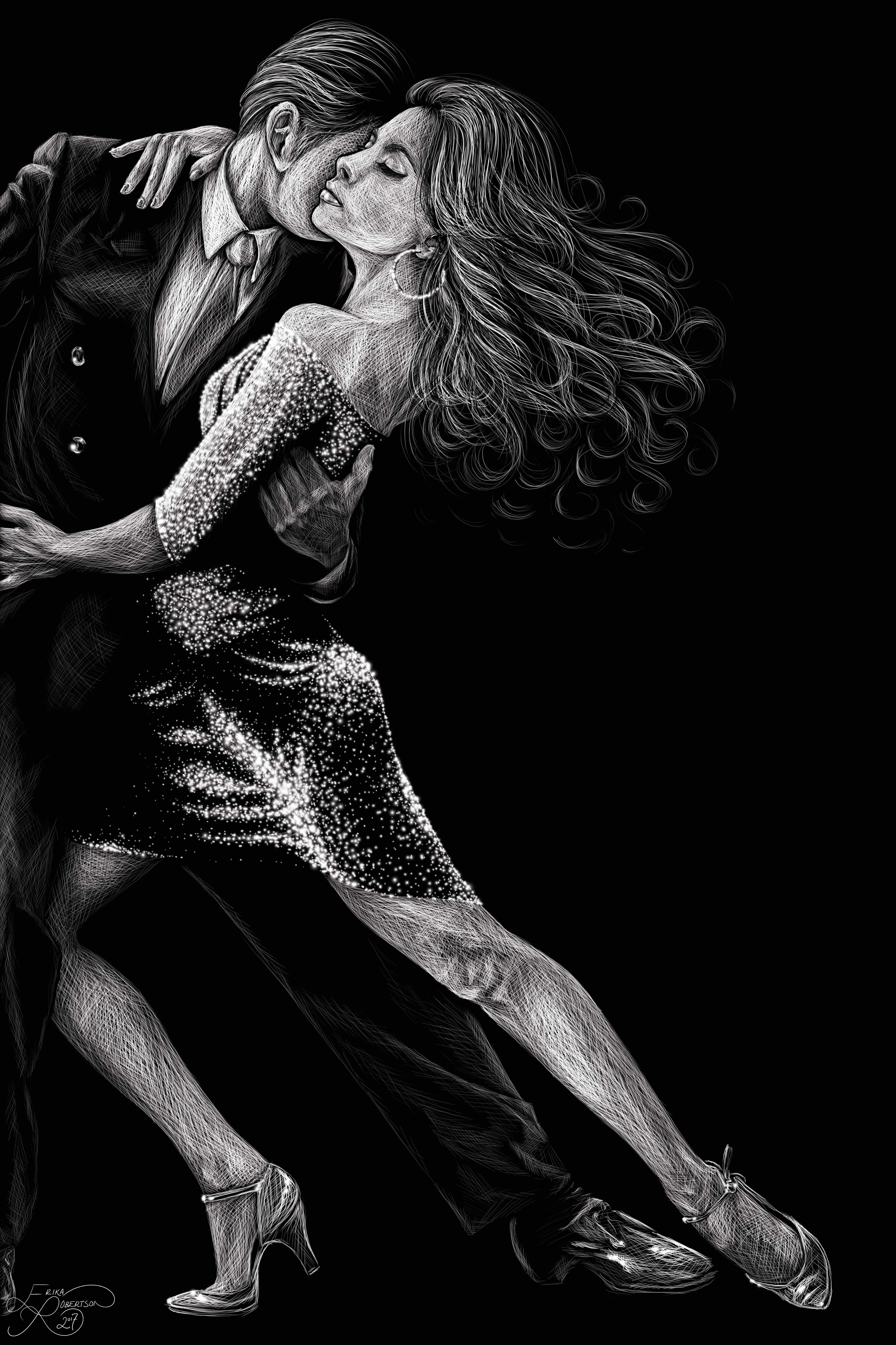 Art With Erika Shop - The Codependency Dance - Psychology Collection Artwork