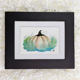 fairytale Cinderella pumpkin art print with black frame