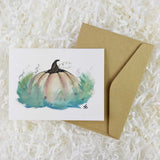 small handmade Cinderella pumpkin fairy tale card with envelope
