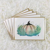 storybook magic pumpkin handmade cards set of 5 with glitter