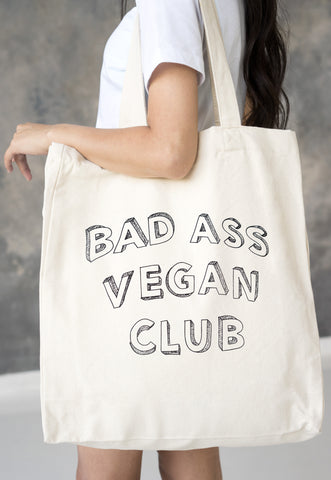 Vegan Tote Bag - Bad Ass Vegan Club