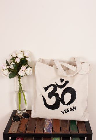Vegan Tote Bag - Om Vegan