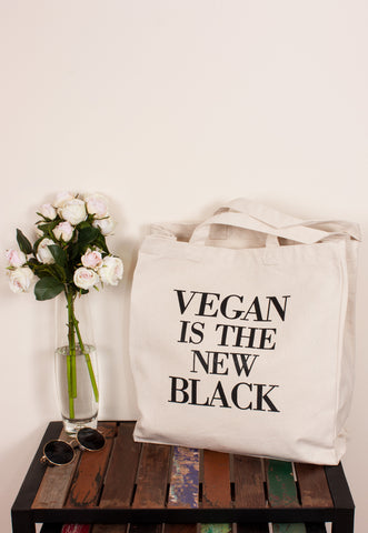 Vegan Tote Bag - Vegan Is The New Black